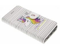 Design Softcase Booktype Huawei P8 Lite