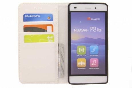 Design Softcase Booktype voor Huawei P8 Lite - Unicorn