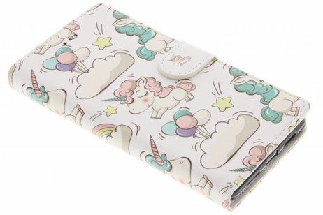 Design Softcase Booktype voor Huawei P9 Lite - Mini Flamingo