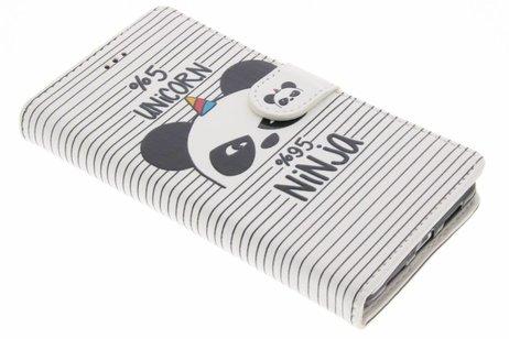 Design Softcase Booktype voor Huawei P9 Lite - Unicorn Ninja