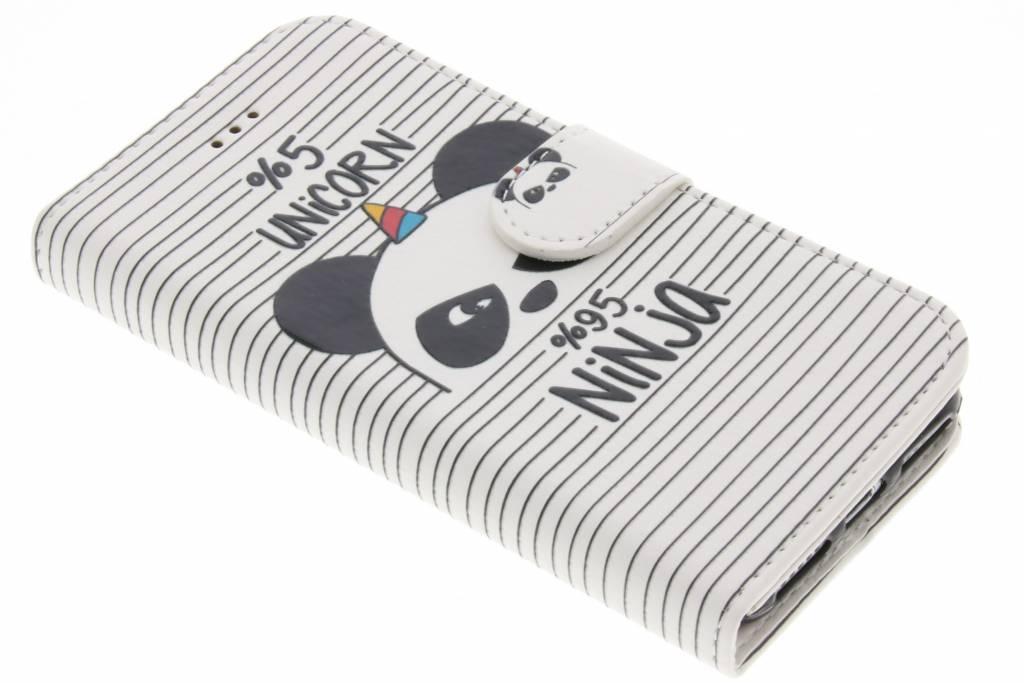 Design Softcase Booktype voor iPhone 8 / 7 - Unicorn Ninja