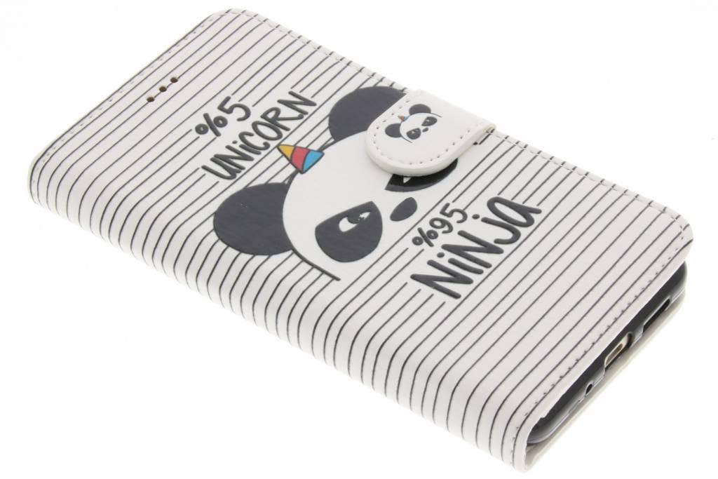 Design Softcase Booktype voor Huawei P10 Lite - Unicorn Ninja