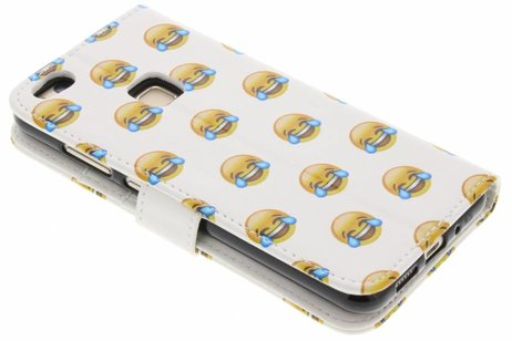 Design Softcase Booktype voor Huawei P10 Lite - Emoji Lachen