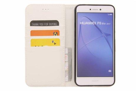 Design Softcase Booktype voor Huawei P8 Lite (2017) - Mini Flamingo