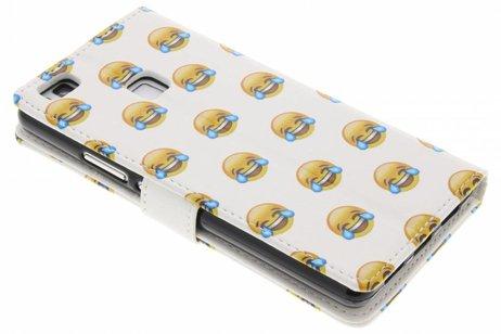 Design Softcase Booktype voor Huawei P9 Lite - Emoji Lachen