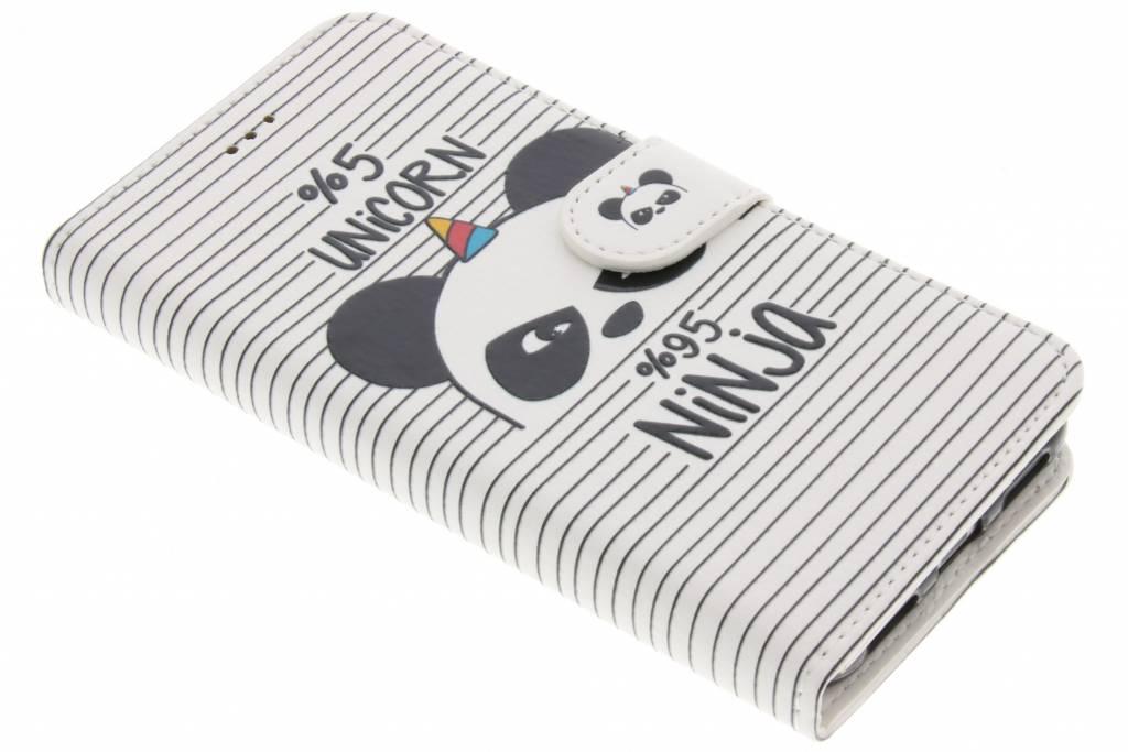 Design Softcase Booktype voor Huawei P8 Lite (2017) - Unicorn Ninja