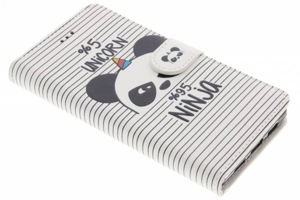 Design Softcase Booktype voor Huawei P8 Lite - Unicorn Ninja