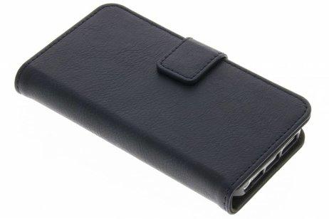 Luxe Lederen Booktype voor iPhone SE / 5 / 5s - Donkerblauw