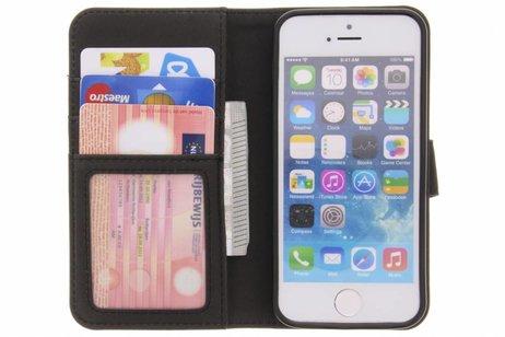 Luxe Lederen Booktype voor iPhone SE / 5 / 5s - Bruin