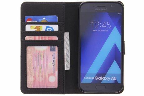 Luxe Lederen Booktype voor Samsung Galaxy A5 (2017) - Donkerblauw