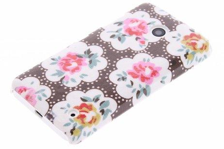 Bruin bloemen design hardcase hoesje voor de Nokia Lumia 630 / 635