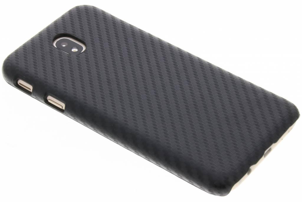 Carbon Hardcase Backcover voor Samsung Galaxy J7 (2017) - Zwart