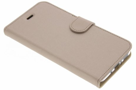 Accezz Wallet Softcase Booktype voor HTC U11 - Goud