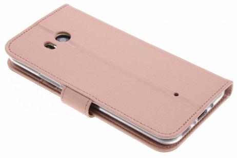 Accezz Wallet Softcase Booktype voor HTC U11 - Rosé goud
