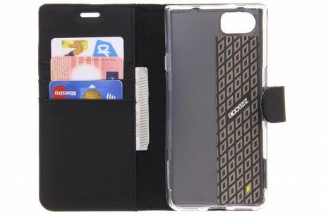 Accezz Wallet Softcase Booktype voor BlackBerry KeyOne - Zwart