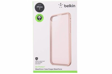 Belkin Air Protect SheerForce Backcover voor iPhone 8 / 7 - Rosé Goud