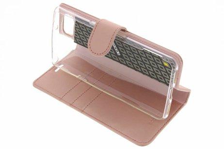 Accezz Wallet Softcase Booktype voor BlackBerry KeyOne - Rosé goud