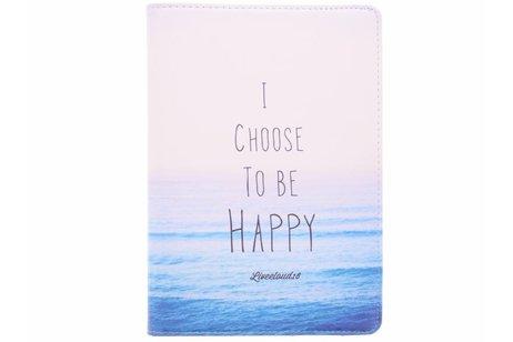 360° Draaibare Design Bookcase voor iPad Pro 10.5 / Air 10.5 - Choose Happy