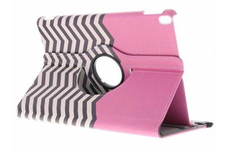 360° Draaibare Design Bookcase voor iPad Pro 10.5 / Air 10.5 - Roze Chevron