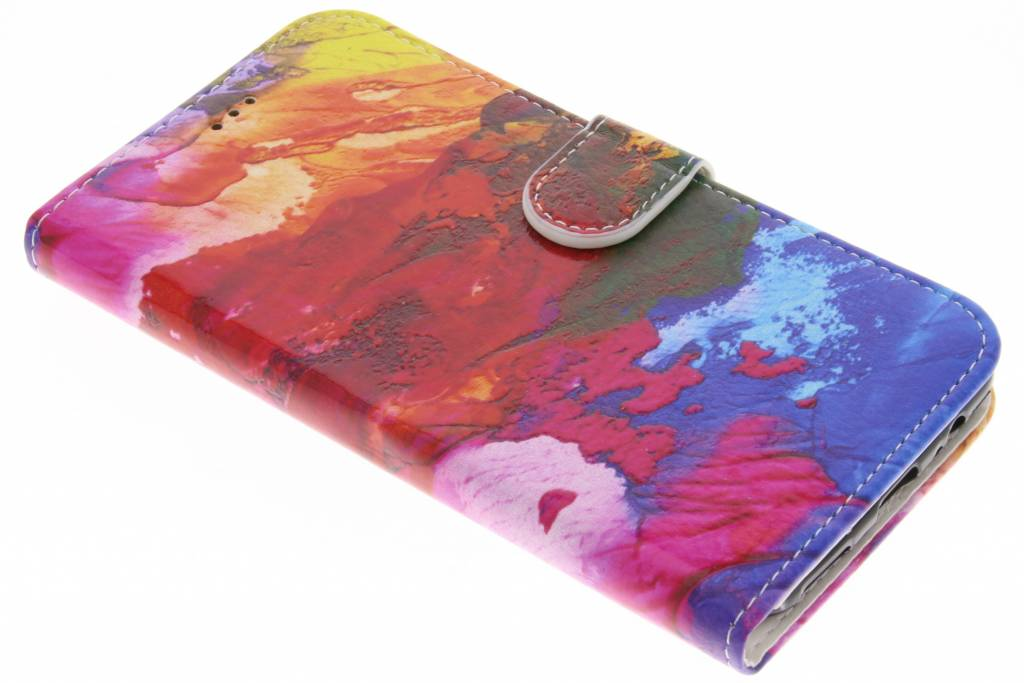 Design Softcase Booktype voor OnePlus 5 - Colorful