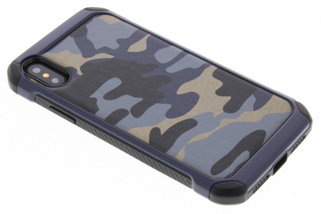 Army Defender Backcover voor iPhone X / Xs - Blauw