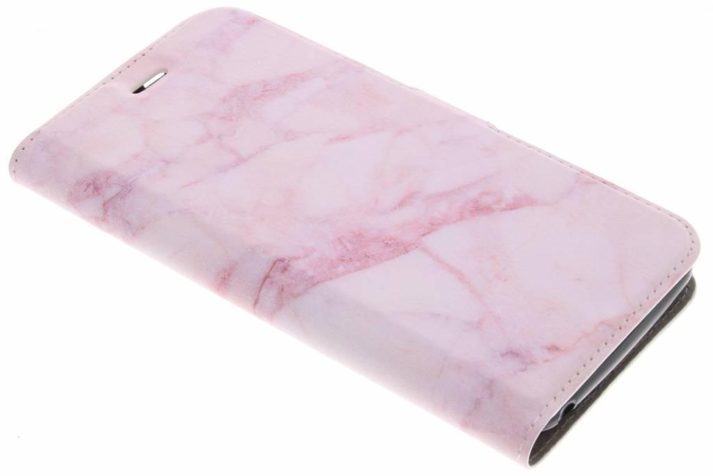 Design Softcase Booktype voor Acer Liquid Z6 - Marmer Roze