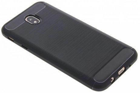 Brushed Backcover voor Samsung Galaxy J7 (2017) - Zwart