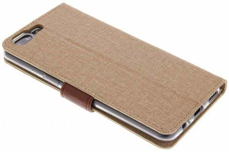 Linnen Booktype voor OnePlus 5 - Bruin