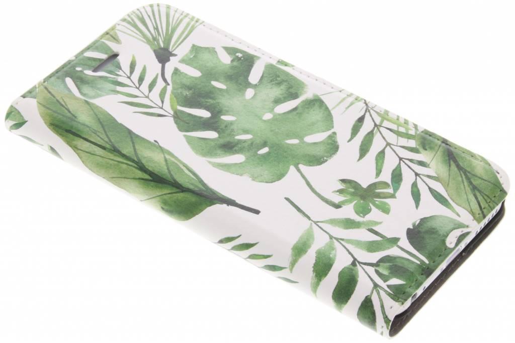 Design Hardcase Booktype voor iPhone 6 / 6s - Monstera Leafs