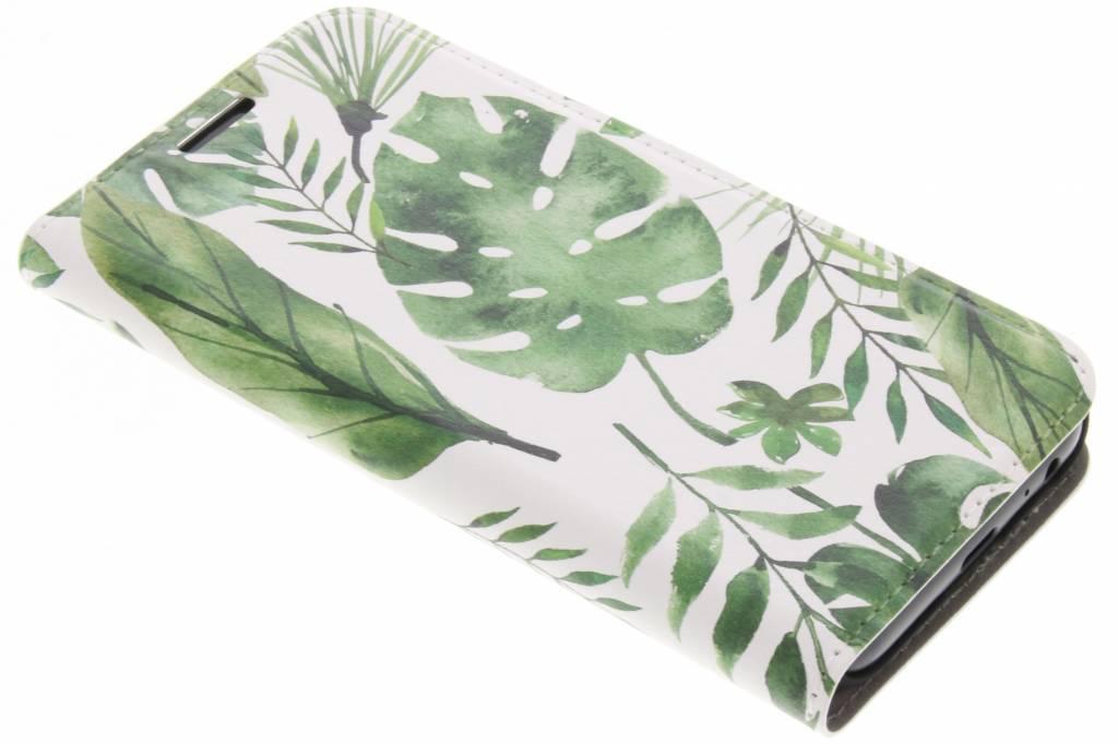 Design Hardcase Booktype voor Samsung Galaxy A3 (2017) - Monstera Leafs
