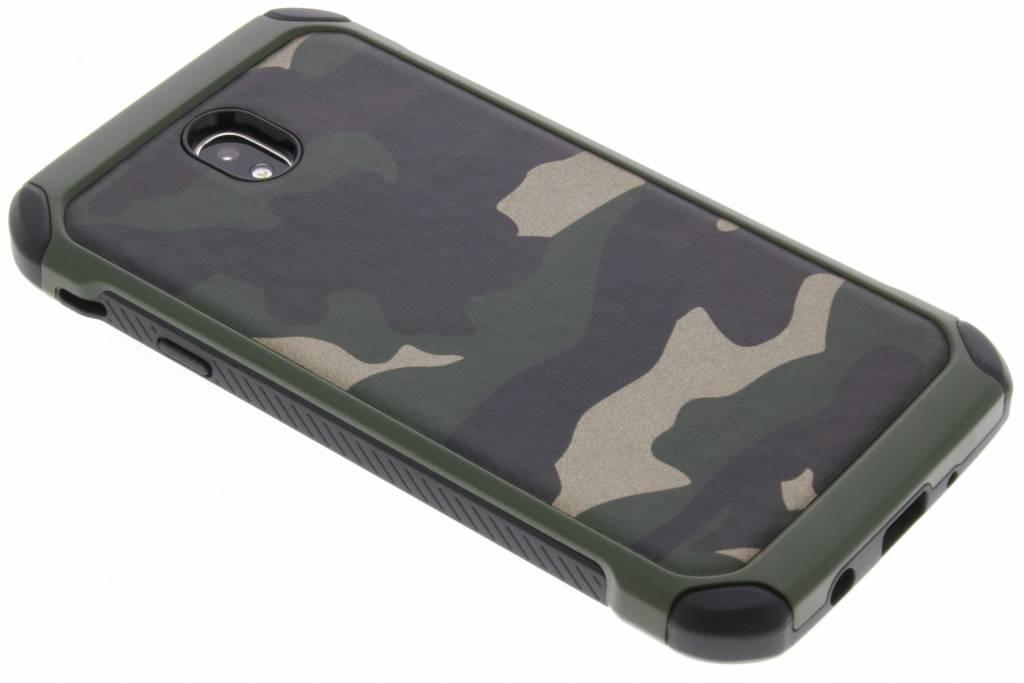 Army Defender Backcover voor Samsung Galaxy J7 (2017) - Groen