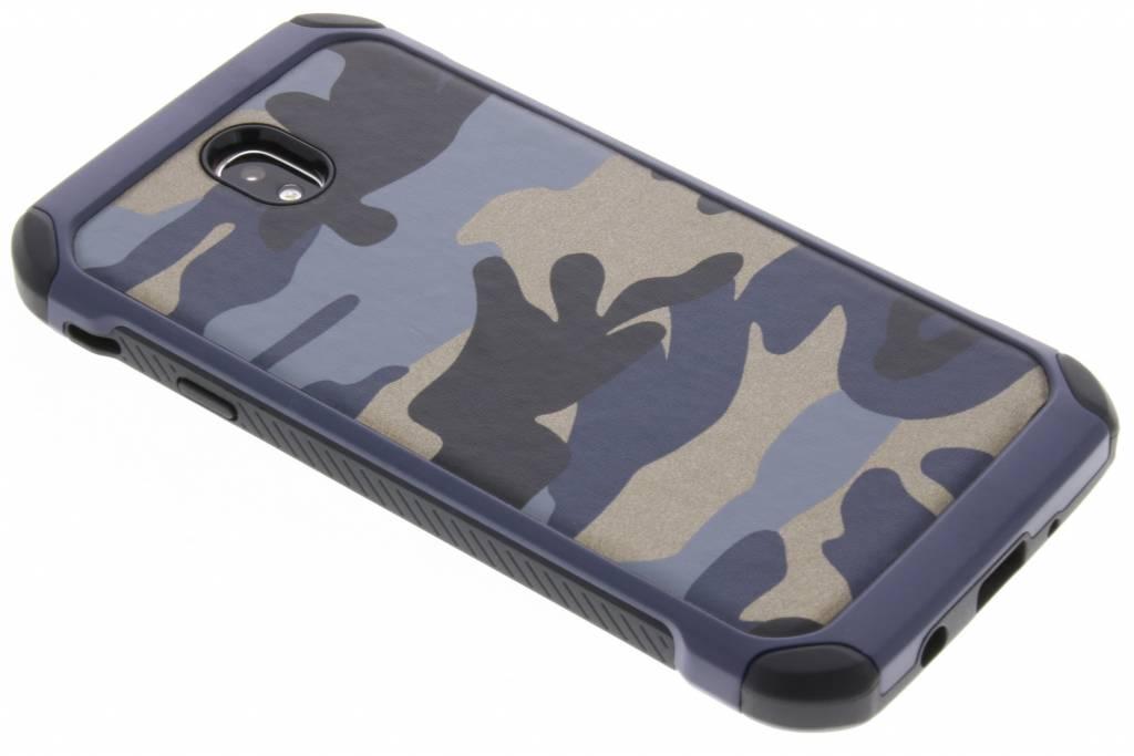 Army Defender Backcover voor Samsung Galaxy J7 (2017) - Blauw