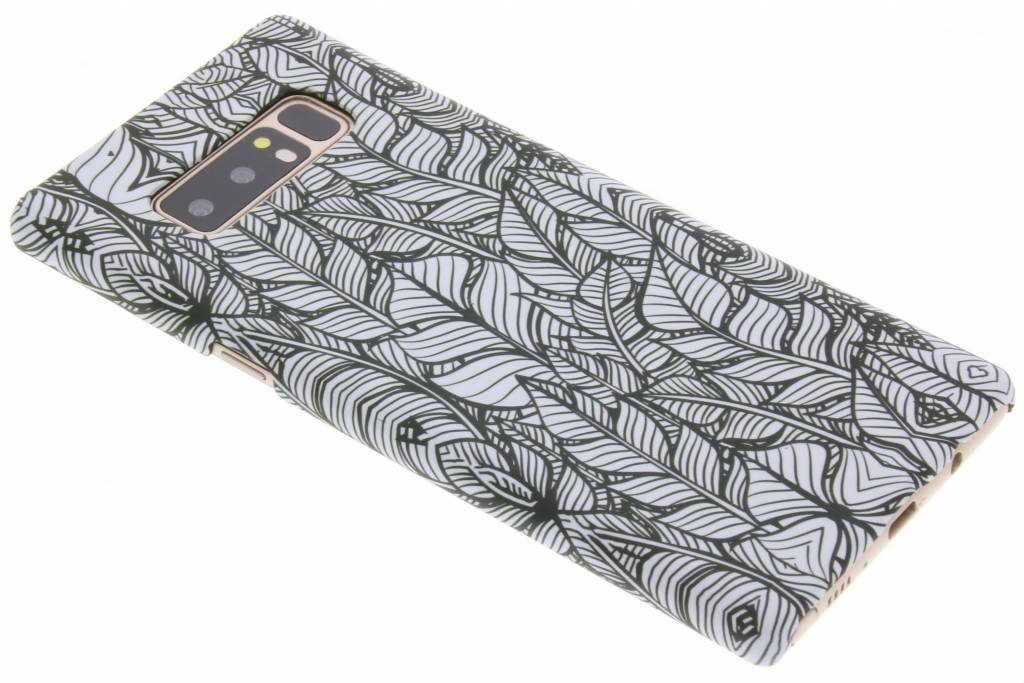 Design Hardcase Backcover voor Samsung Galaxy Note 8 - Botanic Feathers