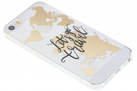 Design Backcover voor iPhone SE / 5 / 5s - Quote Wereldkaart