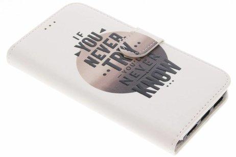 Design Softcase Booktype voor iPhone X / Xs - Quote
