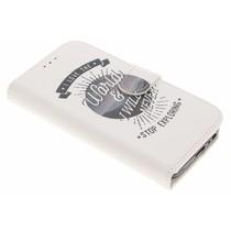 Design Softcase Booktype Samsung Galaxy A3 (2017)
