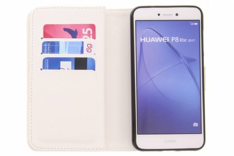 Design Portemonnee 9 slots voor Huawei P8 Lite (2017) - Feathers Eyes