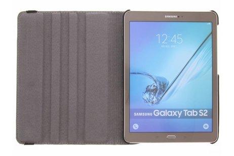 360° Draaibare Design Bookcase voor Samsung Galaxy Tab S2 9.7 - Bloem