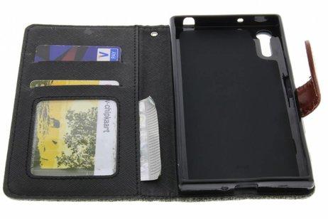 Linnen Booktype voor Sony Xperia XZ - Donkergrijs