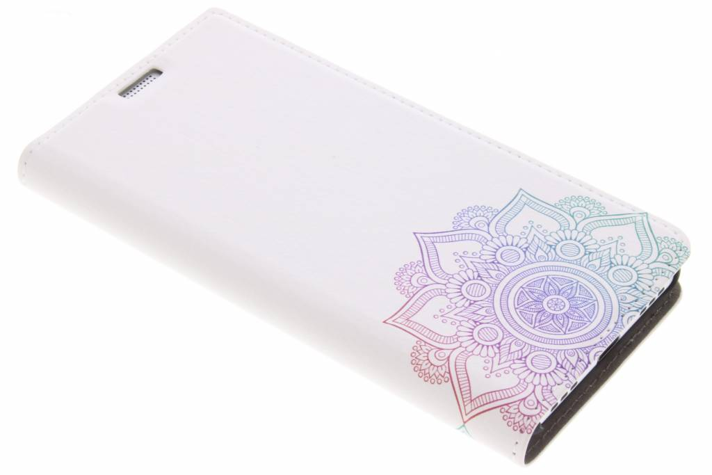 Design Hardcase Booktype voor BlackBerry KeyOne - Mandala Multicolor