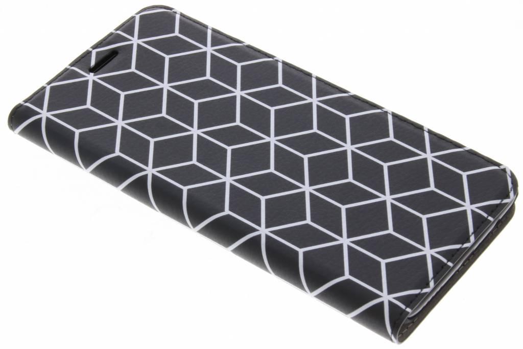 Design Hardcase Booktype voor OnePlus 5 - Cubes Black
