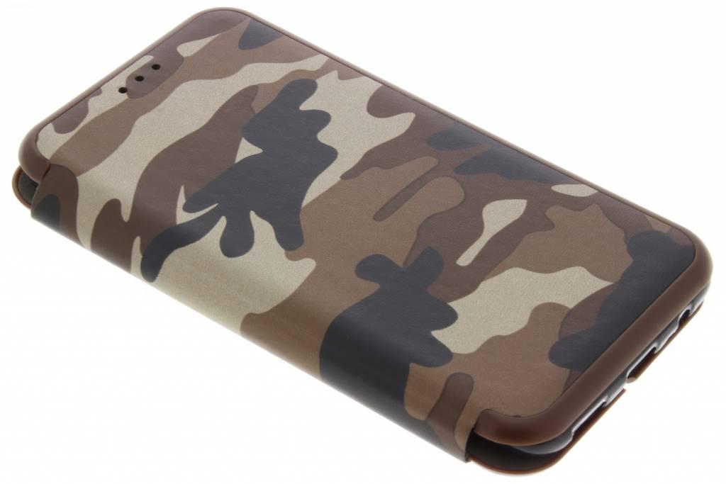 Army Slim Folio Booktype voor OnePlus 5 - Bruin
