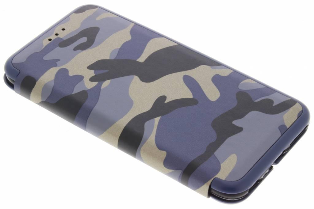 Army Slim Folio Booktype voor iPhone 6(s) Plus - Blauw