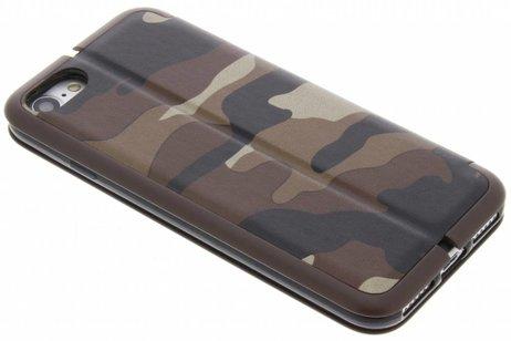 Army Slim Folio Booktype voor iPhone 8 / 7 - Bruin
