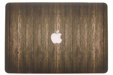 Design Hardshell Cover voor MacBook Pro Retina 15.4 inch 2013-2017 - Hout Donkerbruin