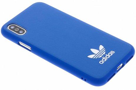 adidas Originals Basic Logo Backcover voor iPhone X / Xs - Blauw