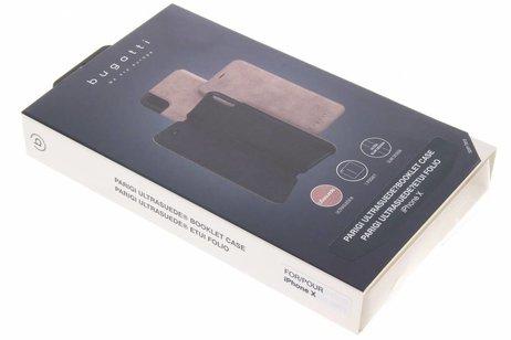 Bugatti Parigi Ultrasuède Booktype voor iPhone X / Xs - Roze