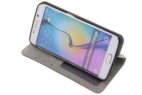 Samsung Galaxy S6 Edge hoesje - Denim Booktype voor Samsung