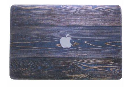 Design Hardshell Cover voor MacBook Pro 15.4 inch - Hout Blauw