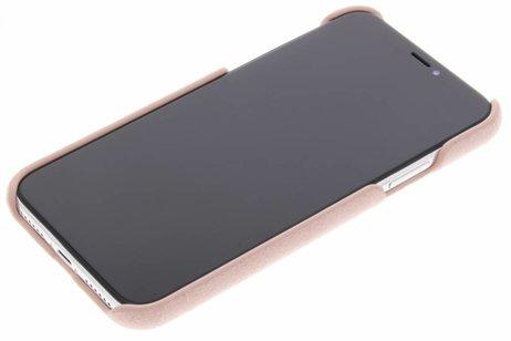 Bugatti Londra Ultrasuède Backcover voor iPhone X / Xs - Roze